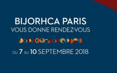 BIJORHCA Paris – du 07 au 10 septembre 2018