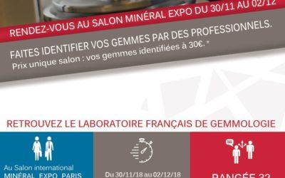 RDV A MINÉRAL EXPO DU 30/11 AU 02/12 2018