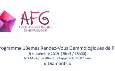 Le LFG participe au 18èmes Rendez-vous Gemmologique de Paris
