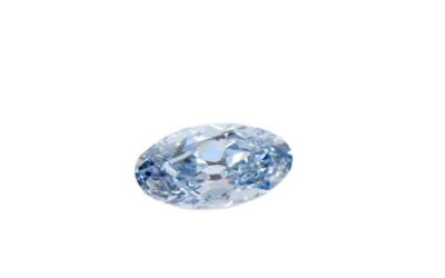 Diamant navette « fancy » bleu vif